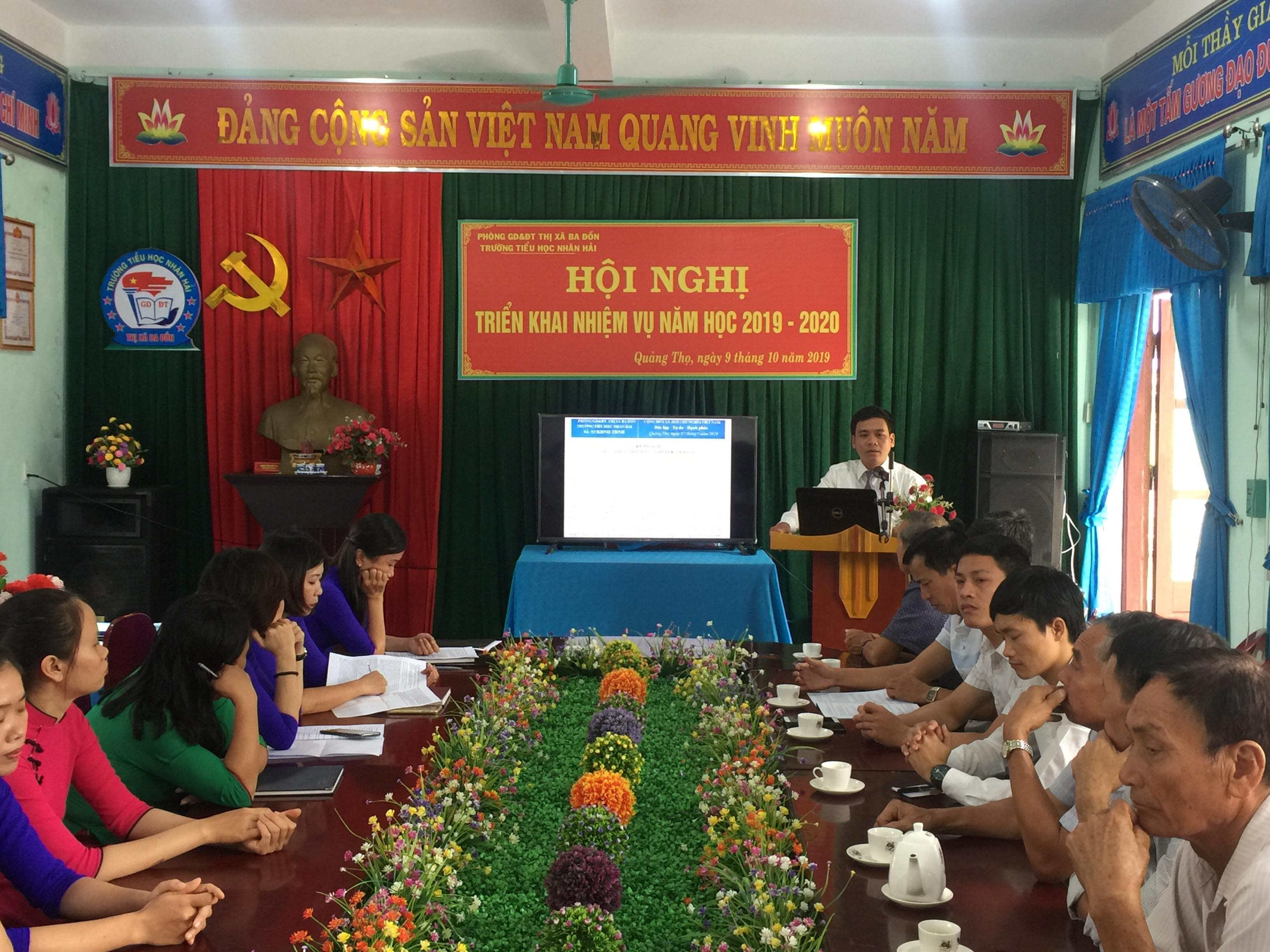 Hội nghị triển khai nhiệm vụ năm học 2019-2020