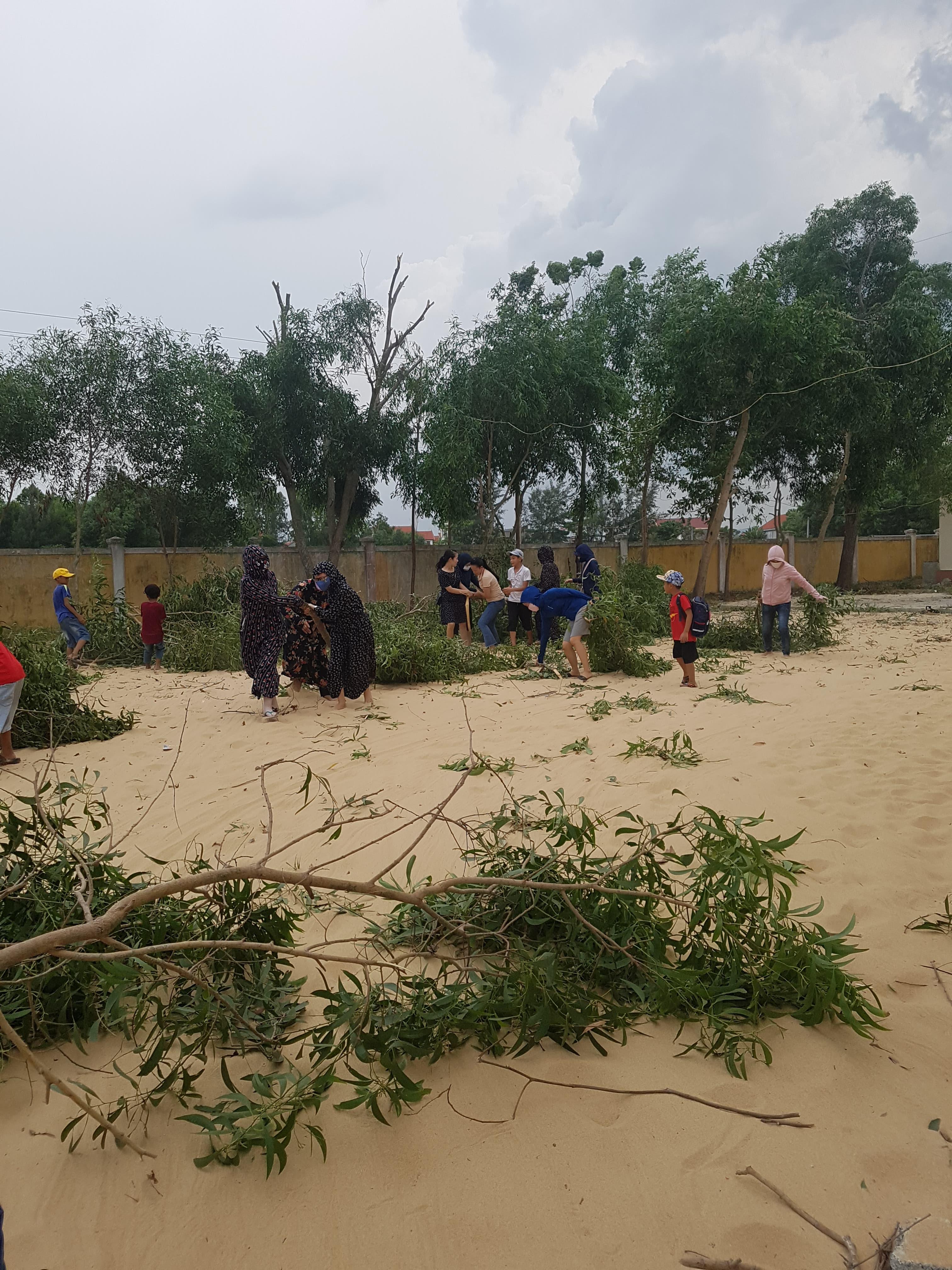 Công tác phòng chống thiên tai, lụt bão năm 2020 tại trường Tiểu học Nhân Hải